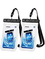 Mpow 097 Universal Waterproof Case, IPX8 Waterproof Phone Pouch Dry Bag Compatible for iPhone 11/11 Pro Max/Xs Max/XR/X/8/8P Galaxy up to 6.8″, Phone Pouch for Beach Kayaking Travel or Bath (2 Pack)